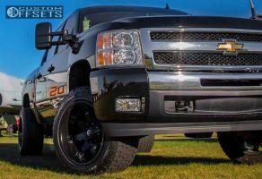 """2009 Chevrolet Silverado 1500 - 20x12 -44mm - Fuel Octane - Suspension Lift 4.5"""" - 305/50R20"""