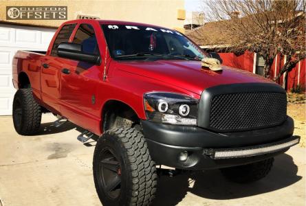"2008 Dodge Ram 1500 - 20x11.5 -44mm - Vision Empire - Suspension Lift 6"" - 35"" x 12.5"""