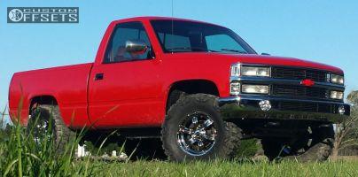 "1994 Chevrolet K1500 - 17x8 0mm - American Racing Trench - Stock Suspension - 35"" x 12.5"""