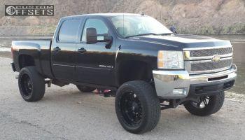 """2007 Chevrolet Silverado 2500 HD - 24x11 -44mm - Fuel Hostage - Suspension Lift 8"""" - 325/50R24"""