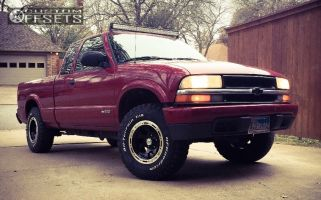 """2003 Chevrolet S10 - 15x8 -27mm - Alloy Ion Style 174 - Leveling Kit & Body Lift - 30"""" x 9.5"""""""