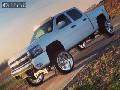 "2008 Chevrolet Silverado 1500 - 24x14 -73mm - American Force Legend Ss - Suspension Lift 9"" - 35"" x 12.5"""