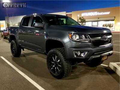 "2016 Chevrolet Colorado - 20x9 0mm - Moto Metal Mo970 - Suspension Lift 6"" - 285/60R20"