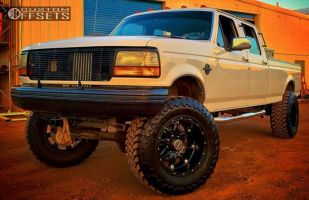 """1996 Ford F-350 - 20x12 -44mm - Fuel Hostage - Suspension Lift 6"""" - 37"""" x 13.5"""""""