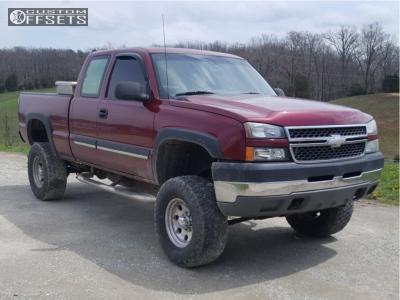 "2005 Chevrolet Silverado 2500 - 17x9 -12mm - Pacer Lt - Suspension Lift 6"" - 315/70R17"