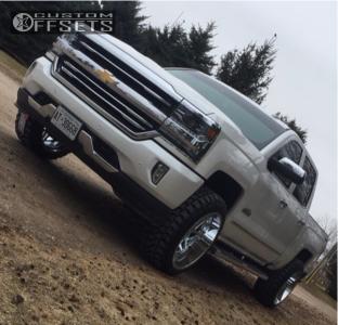 """2017 Chevrolet Silverado 1500 - 22x12 -44mm - Hostile Sprocket - Leveling Kit - 33"""" x 12.5"""""""