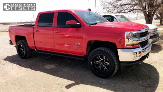 2018 Chevrolet Silverado 1500 - 20x10 -19mm - Hostile Rage - Leveling Kit - 275/55R20