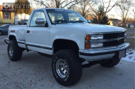 "1992 Chevrolet K1500 - 15x10 -43mm - American Racing Baja - Leveling Kit & Body Lift - 33"" x 12.5"""