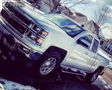 2015 Chevrolet Silverado 1500 - 18x9 1mm - Fuel Hostage - Stock Suspension - 275/70R18