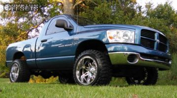 "2006 Dodge Ram 1500 - 20x12 -44mm - Fuel Hostage - Leveling Kit - 33"" x 12.5"""