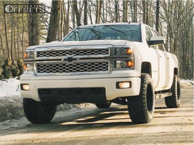 2014 Chevrolet Silverado 1500 - 20x10 -25mm - Ultra Hunter - Leveling Kit - 295/45R20