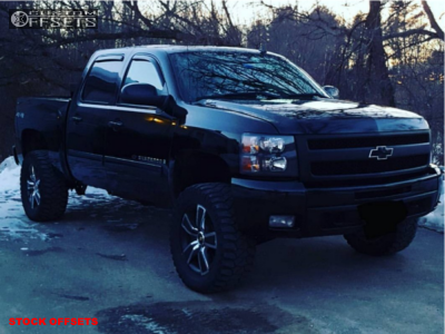 """2009 Chevrolet Silverado 1500 - 20x8.5 31mm - Spaced Out Stockers Spaced Out Stockers - Suspension Lift 4.75"""" - 305/55R20"""
