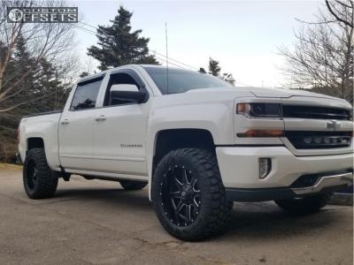 2016 Chevrolet Silverado 1500 - 20x10 -24mm - Fuel 538 - Leveling Kit - 305/55R20