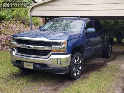 "2016 Chevrolet Silverado 1500 - 22x9 24mm - Oe Performance 113 - Leveling Kit - 33"" x 12.5"""