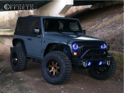 "2015 Jeep Wrangler - 17x9 -6mm - Mayhem Prodigy - Stock Suspension - 35"" x 12.5"""