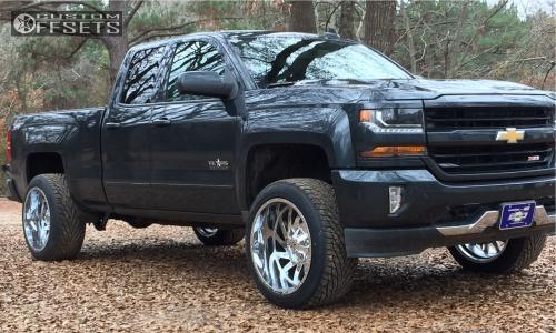 "2017 Chevrolet Silverado 1500 - 22x12 -44mm - Dfd 388 - Suspension Lift 3.5"" - 305/45R22"