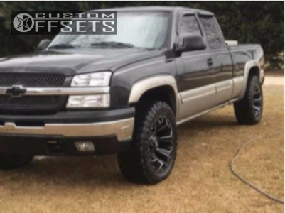 "2003 Chevrolet Silverado 1500 - 20x12 -44mm - Fuel Assault - Level 2"" Drop Rear - 33"" x 12.5"""