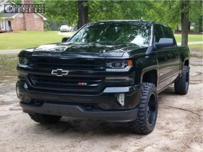 """2016 Chevrolet Silverado 1500 - 20x10 -19mm - Hostile Stryker - Suspension Lift 4"""" - 305/55R20"""