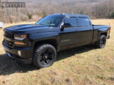2017 Chevrolet Silverado 1500 - 20x9 0mm - XD Monster Ii - Leveling Kit - 295/55R20