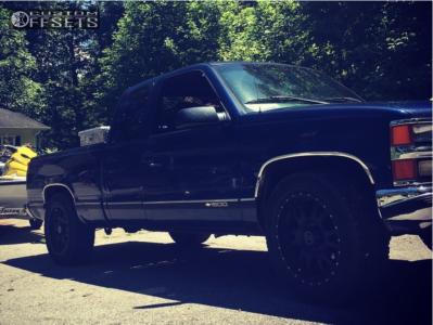 1998 Chevrolet C1500 - 18x9 0mm - Black Rhino Lucerne - Stock Suspension - 265/60R18