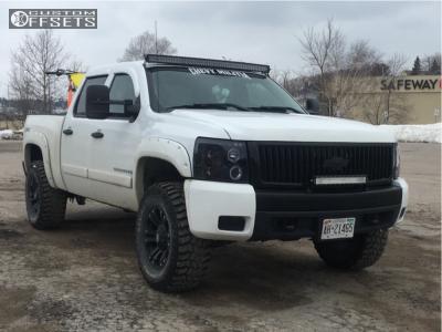 "2008 Chevrolet Silverado 1500 - 18x9 -12mm - XD Xd778 - Suspension Lift 4"" - 295/70R18"