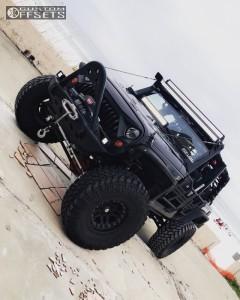 "2012 Jeep Wrangler - 17x9 -12mm - Hutchinson Rock Monster - Suspension Lift 6"" - 37"" x 12.5"""