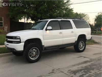 "2002 Chevrolet Suburban - 20x10 -12mm - Venti V98 - Suspension Lift 6"" - 35"" x 12.5"""