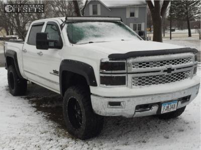 "2014 Chevrolet Silverado 1500 - 20x10 -25mm - Ultra Hunter - Suspension Lift 4.75"" - 35"" x 12.5"""