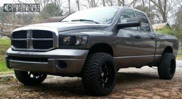 "2006 Dodge Ram 1500 - 20x12 -44mm - Xd Buck - Leveling Kit - 33"" x 12.5"""