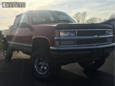 "1997 Chevrolet K1500 - 16x8 0mm - Helo He791 - Body Lift 3"" - 285/75R16"