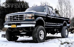 """1997 Ford F-350 - 16x10 -25mm - Pro Comp Series 69 - Suspension Lift 4"""" - 315/75R16"""