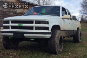 """1997 Chevrolet K1500 - 15x14 -76mm - Bart Super Trucker - Leveling Kit - 35"""" x 12.5"""""""