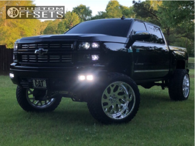 "2015 Chevrolet Silverado 1500 - 24x14 -73mm - American Force Lucky Ss - Suspension Lift 9"" - 37"" x 13.5"""