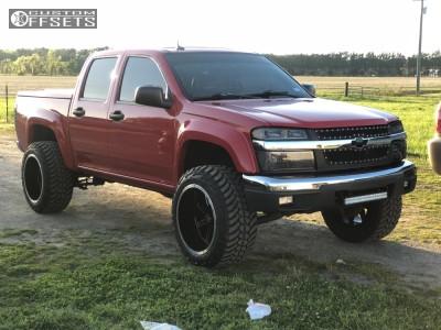 "2008 Chevrolet Colorado - 20x12 -51mm - Vision Cannibal - Suspension Lift 2.5"" - 285/55R20"