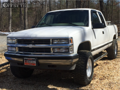 "1998 Chevrolet K1500 - 16x10 -25mm - American Racing Baja - Suspension Lift 4"" - 305/70R16"