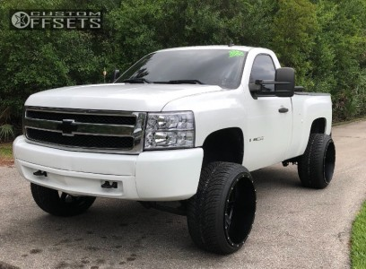 "2008 Chevrolet Silverado 1500 - 24x14 -75mm - Fuel Maverick D538 - Suspension Lift 6.5"" - 305/35R24"