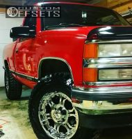1998 Chevrolet K1500 - 18x9 25mm - Gear Off-Road Recoil - Leveling Kit - 285/65R18