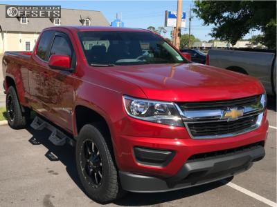 2016 Chevrolet Colorado - 18x9 23mm - Moto Metal Mo970 - Leveling Kit - 265/65R18
