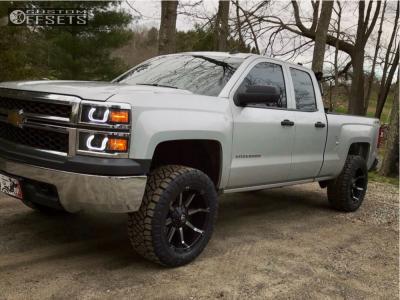 """2014 Chevrolet Silverado 1500 - 20x10 -24mm - Fuel Coupler - Suspension Lift 4"""" - 295/55R20"""