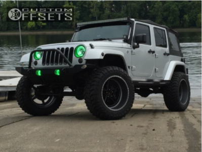 """2011 Jeep Wrangler - 22x12 -44mm - American Force Evade Fp - Suspension Lift 4.5"""" - 37"""" x 13.5"""""""