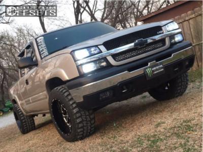 """2005 Chevrolet Silverado 1500 - 20x12 -44mm - Hostile Sprocket - Leveling Kit - 33"""" x 12.5"""""""