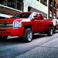 "2009 Chevrolet Silverado 1500 - 20x10 -12mm - Helo Maxx6 - Suspension Lift 3"" - 305/50R20"