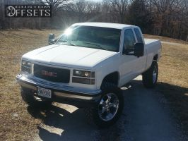 """1998 GMC Sierra 1500 - 20x9 10mm - Panther Realm - Suspension Lift 6"""" - 35"""" x 12.5"""""""
