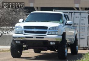 "2004 Chevrolet Silverado 1500 - 20x10 -25mm - Moto Metal MO955 - Suspension Lift 6.5"" - 33"" x 12.5"""