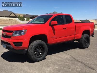 "2017 Chevrolet Colorado - 18x9 -12mm - Raceline Shift - Suspension Lift 4"" - 275/65R18"