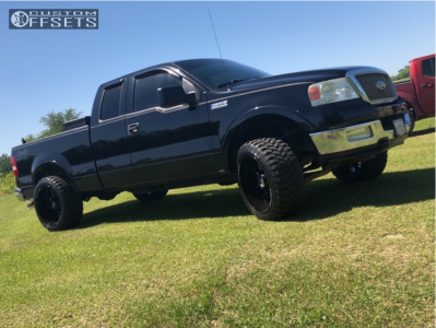 """2004 Ford F-150 - 22x12 -44mm - Xf Offroad 203 - Leveling Kit - 33"""" x 12.5"""""""
