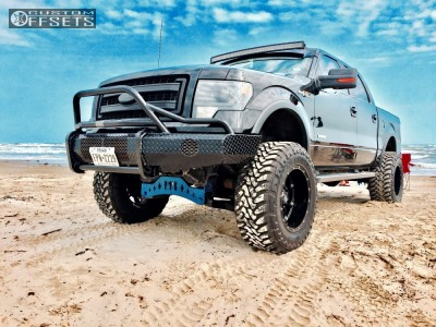 """2013 Ford F-150 - 20x12 -44mm - Fuel Hostage - Suspension Lift 6"""" - 37"""" x 13.5"""""""