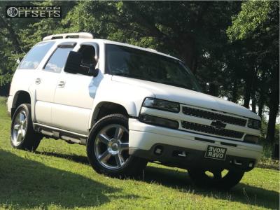 2002 Chevrolet Tahoe - 20x8.5 30mm - Replica C01 - Stock Suspension - 245/60R20