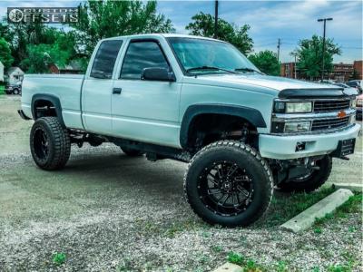 "1997 Chevrolet K1500 - 20x12 -44mm - Hostile Stryker - Suspension Lift 6"" & Body 3"" - 35"" x 12.5"""