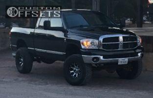 "2007 Dodge Ram 2500 - 18x9 -12mm - Xd Xd798 - Suspension Lift 4.5"" - 35"" x 12.5"""